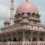 Putra Mosque from Putrajaya Lake in Putrajaya