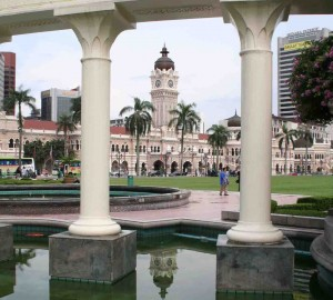 The view through Merdeka Square (Dataran Merdeka) to the Sultan Abdul Samad Building beyond