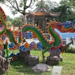 Garden sculpture in the Thean Ho Buddhist Temple