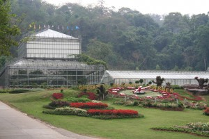 The greenhouse complex at Queen Sirikit Botanic Garden