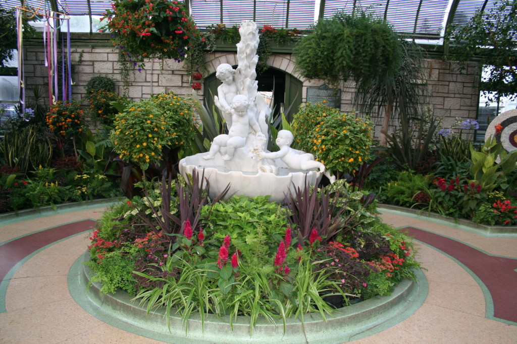 The Niagara Parks Floral Showhouse is located just south of the Horseshoe Falls in Niagara Falls, Ontario Canada